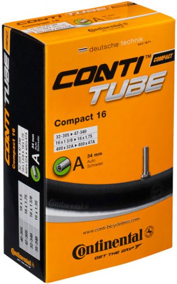 Continental Compact 16-Inch Schrader Innertube