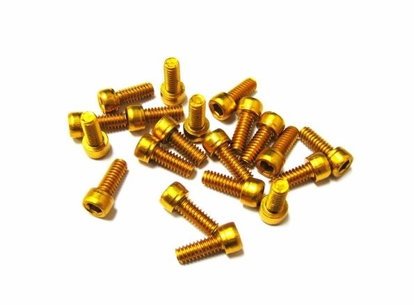 HT Components MEO3T Gold Pedal Pin Kit