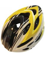 HardnutZ High Vis Yellow/Black/White MTB/Road Helmet