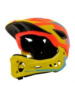 Kiddimoto Ikon Full Face Kids Helmet - Orange/Yellow