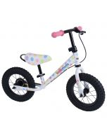 Kiddimoto Super Junior Max 12-inch Balance Bike - Pastel Dotty