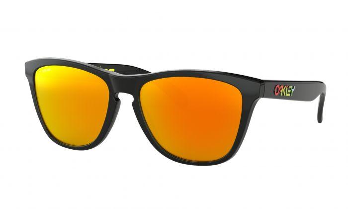 Oakley Frogskin Valentino Rossi Sunglasses - Gloss Black - Prizm Ruby