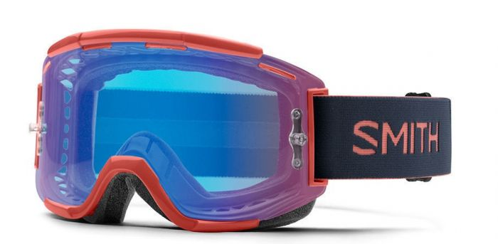 Smith Squad MTB 2019 Goggles - Red Rock/ChromaPop Contrast Rose Flash