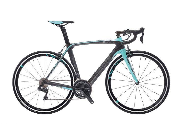 Bianchi Oltre XR3 Ultegra Di2 2019 Bike - Black/Celeste - 55cm