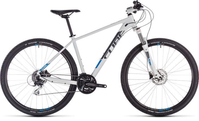 Cube Aim Race 2019 Bike - White/Blue