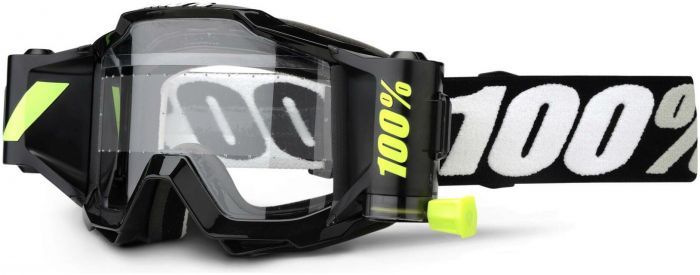 100% Accuri Forecast Youth Clear Black Lens Goggles