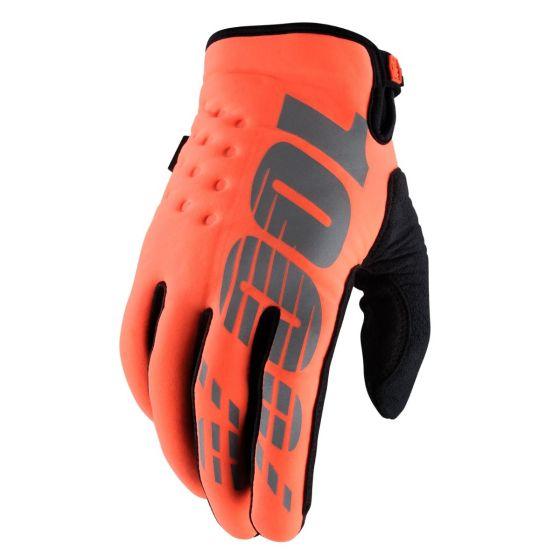 100% Brisker Cold Weather Gloves - Orange
