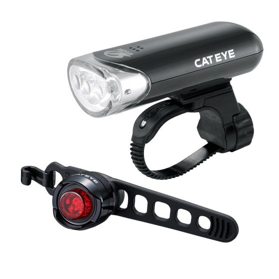 Cateye EL135 / Orb Front and Rear Light Set