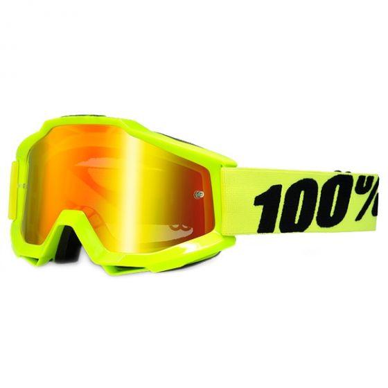 100% Accuri Jr Goggles - Fluorescent Yellow