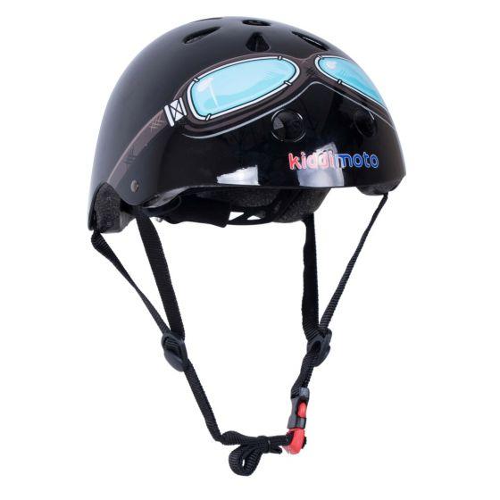 Kiddimoto Helmet - Black Goggle