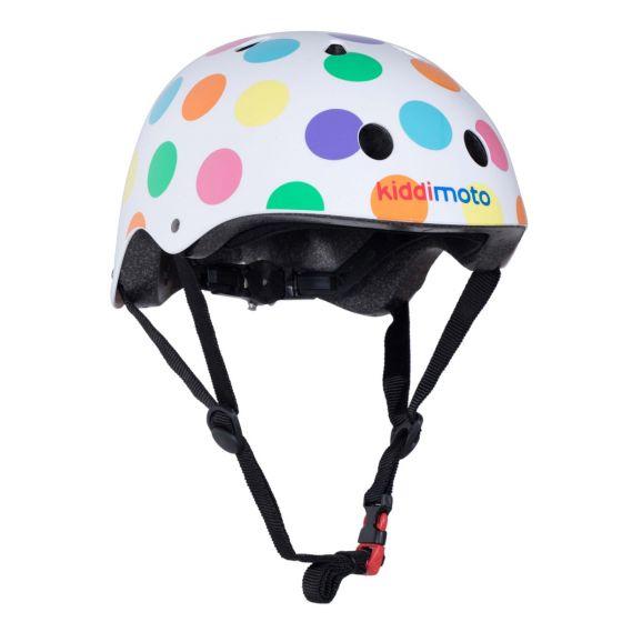 Kiddimoto Helmet - Pastel Dotty