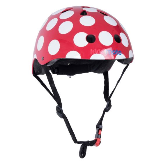 Kiddimoto Helmet - Red Dotty