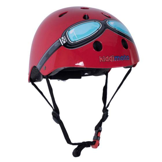 Kiddimoto Helmet - Red Goggle