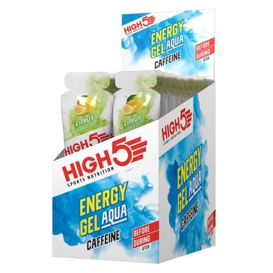 High5 Energy Gel Aqua Caffeine Sachets - 20 x 66g - Citrus