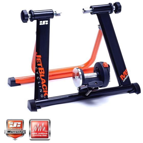 Jet Black M5 Mag Turbo Trainer and App