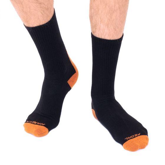 Orange Crew Socks