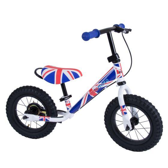 Kiddimoto Super Junior Max 12-inch Balance Bike - Union Jack