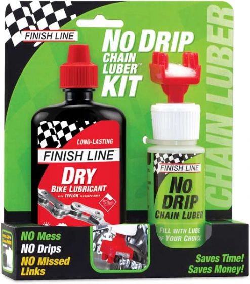 Finish Line Dry Lube & No Drip Chain Luber Kit