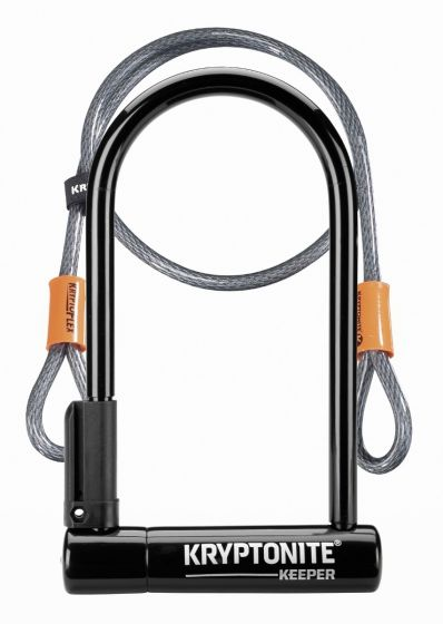 Kryptonite Keeper 12 Standard U-Lock with Flex Cable