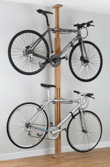 Gear Up OakRak Floor To Ceiling Bike Rack
