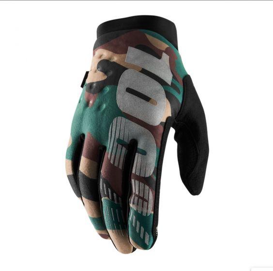 100% Brisker Cold Weather Gloves - Camo/Black