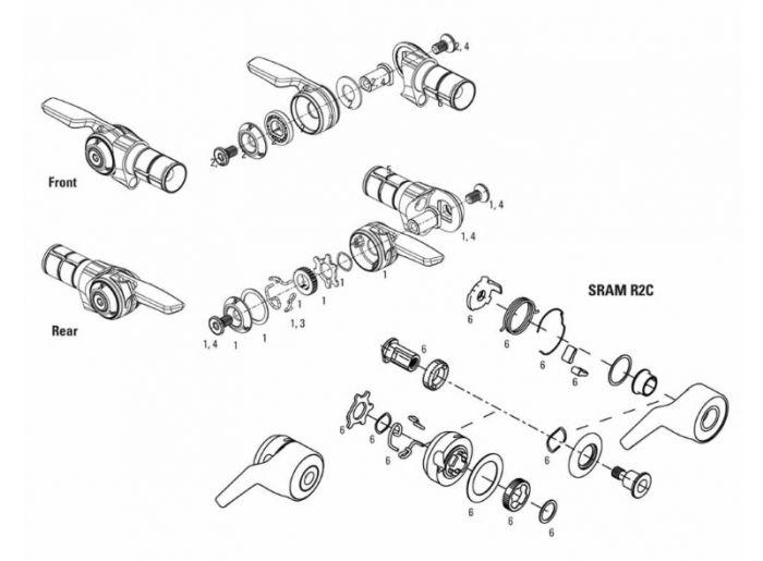 SRAM R2C Shifter Service Kit