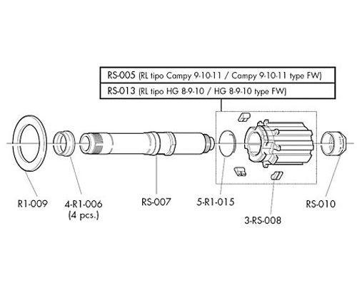 Fulcrum Freehub Body (for R3 R1 R0 RS RL Wheels)