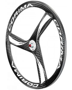 Corima 3 Spoke HM Carbon Tubular Front Wheel