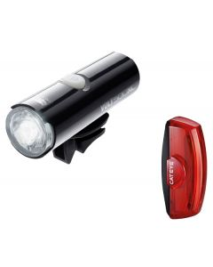 Cateye Volt 500 XC Front and Rapid X2 Rear Light Set