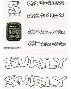 Surly Cross Check Frame Decal Kit
