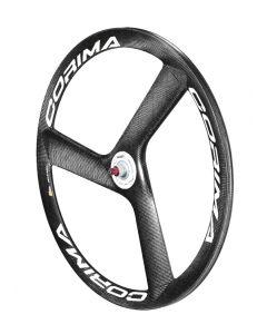Corima 3 Spoke HM Carbon Tubular Track Front Wheel