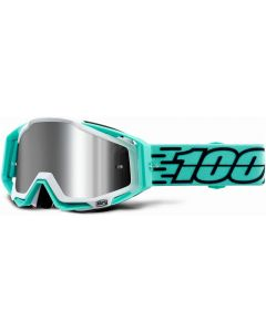 100% Racecraft + Injected Silver Mirror Lens Goggles