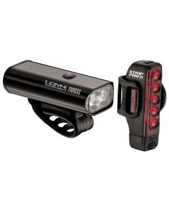 Lezyne Macro Drive 1100 / Strip Pro 300 Front and Rear Light Set