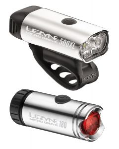 Lezyne Micro Drive 500 / 180 Front and Rear Light Set