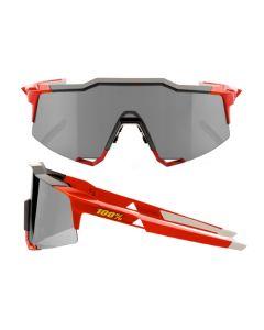 100% Speedcraft Long Lens Sunglasses - Red - Smoke Lens