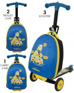 Minions 2 3-in-1 Scootin Suitcase Kids Scooter