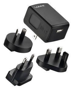 Lezyne Lights 2A International USB Wall Charger Kit