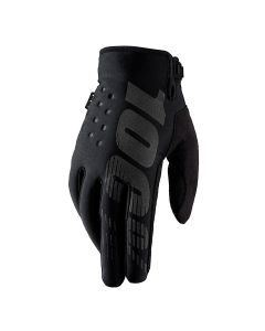 100% Brisker Cold Weather Youth Gloves - Black