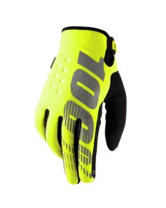 100% Brisker Cold Weather Youth Gloves - Yellow