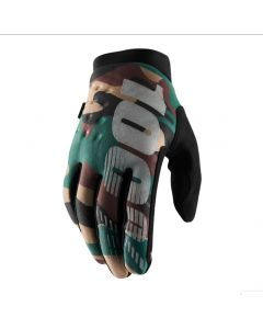 100% Brisker Cold Weather Gloves - Camo/Black