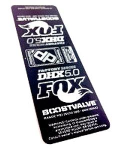 Fox DHX 5.0 2013 Rear Shock Decal Kit