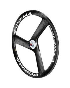 Corima 3 Spoke Carbon Tubular Track Front Wheel - White Decals