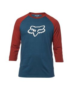 Fox Czar Head Premium Raglan T-Shirt - Navy/Red