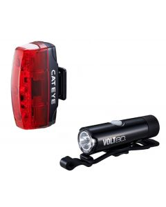 Cateye Volt 80 XC Front and Rapid Micro Rear Light Set