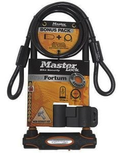MasterLock Street Fortum Gold Sold Secure 210mm D Lock + Cable