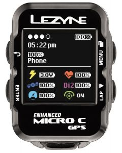 Lezyne Micro C GPS Computer Loaded Bundle