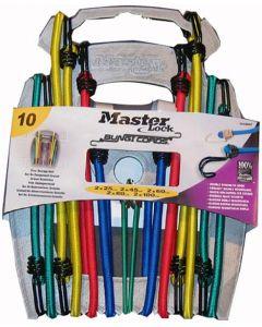 MasterLock Bungee Cords With Organiser (10pcs)