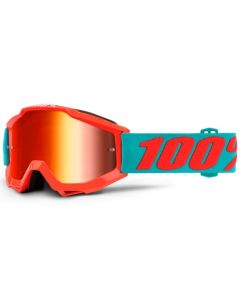 100% Accuri Jr Goggles - Passion Orange - Mirror Red Lens