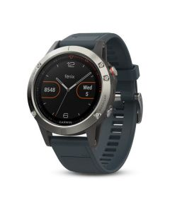 Garmin Fenix 5 GPS Watch - Silver/Slate Blue
