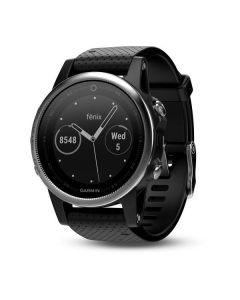 Garmin Fenix 5S GPS Watch - Silver/Black